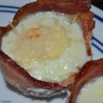 Delicious bacon breakfast cup