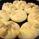 Handheld beef pot pies.