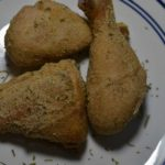 Crispy baked chicken with ranch flavoring.