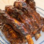 Barbecue Beef Ribs with barbecue sauce.