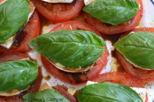 Beautiful and healthy caprese salad.