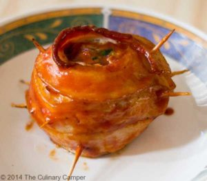 Delicious turkey onion bacon bomb.