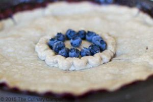 Delicious grilled blueberry pie.