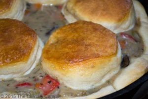 Biscuits and chicken pot pie.