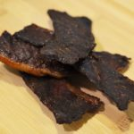 Delicious homemade beef jerky.