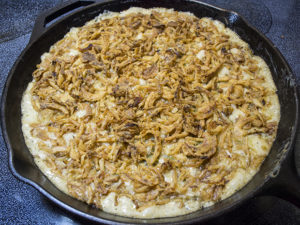Green bean casserole makes a great one pot meal.