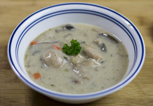 Creamy turkey soup recipe.
