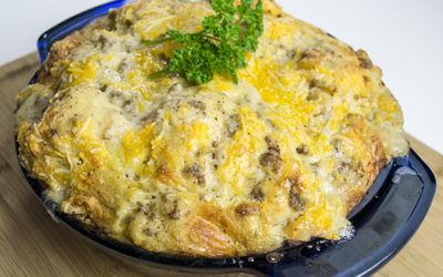 Breakfast Casserole With Biscuits And Gravy Recipe