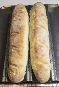 Perfectly baked French baguettes.