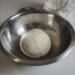 Pizza dough ready to rise.