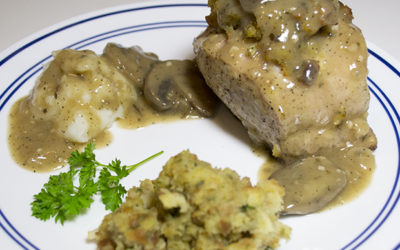 Stuffed Pork Chop Recipe For Two With Marsala Sauce